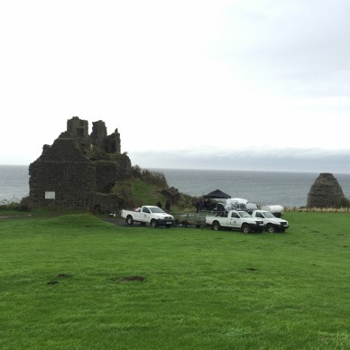 Filming at Dunure castle.jpg