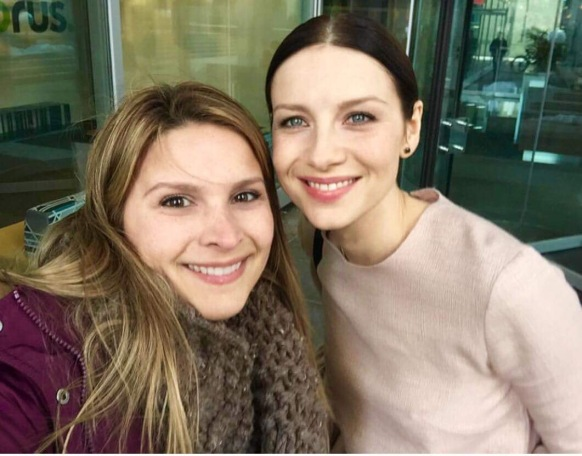 Julia with Caitriona at the Morning show