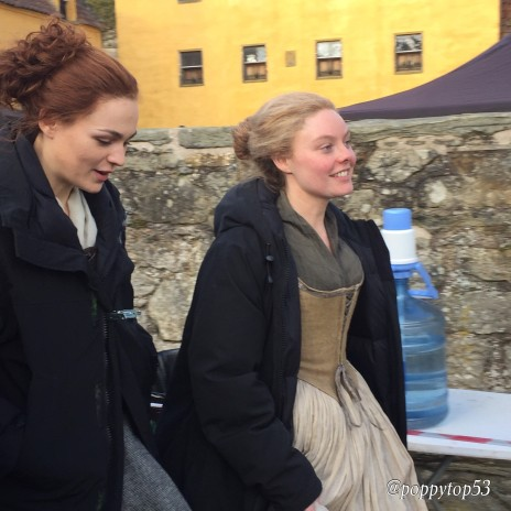 Sophie & Nell filming at Culross.jpg